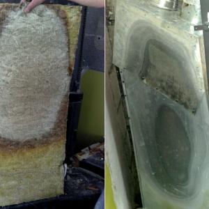Przegrzanie płyt z wełny mineralnej powoduje zanik lepiszcza (kleju). Wówczas włókna wełny swobodnie się unoszą i przedostają do ogrzewanych pomieszczeń. (fot. Jotul)