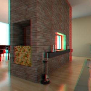 Widok stereoskopowego kadru 3D (il. Damian Gawron)