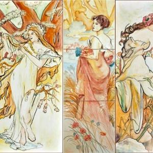 Inspiracje - Alfons Maria Mucha fot. Kafel-Art