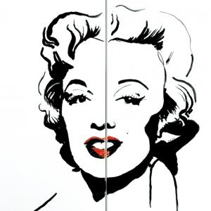Pastisz portretu Marylin Monroe Andy Warhola - fot. Jadwiga Gajda-Lusina; Kafel-Art
