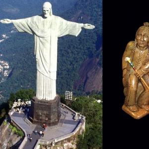 Znane są figurki indiańskie, chińskie czy afrykańskie wykonane z tego kamienia. Jednak najokazalszym dziełem sztuki, w którym go zastosowano, jest pomnik Chrystusa Zbawiciela w Rio de Janeiro