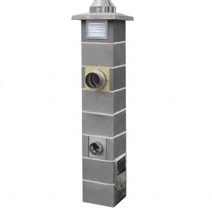 Jawar Nord - czterowarstwowy system kominowy do paliw stałych