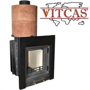 Kominek akumulacyjny z materiałami Vitcas