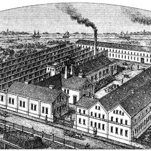 Fabryka Boekhoff & Co. widok z 1888 roku