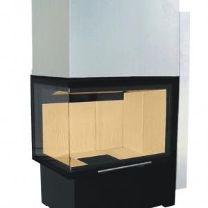 Ważnym kryterium doboru wodniaka powinna być wielkość szyby oraz kształt drzwi. We wkładzie z drzwiami narożnymi emisja ciepła konwekcyjnego może być większa niż w modelu z drzwiami prostymi. fot. Hajduk