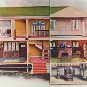 """Schemat centralnego ogrzewania domu American Radiator Company """"Radiation and decoration"""" wydane w 1905 r"""