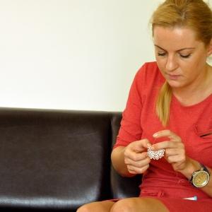 Mariola Wojtas przy pracy, fot. Kominek