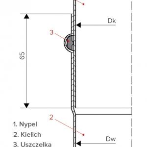 Sposób łączenia elementów rur systemu przyłączy kominowych, il. Darco