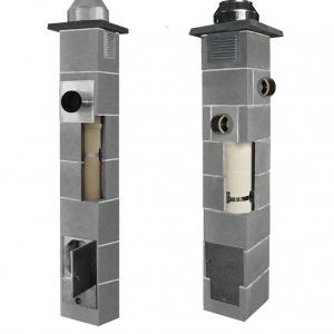 1. Komin do kotłów kondensacyjnych i niskotemperaturowych z rurą izostatyczną JAWAR K. 2. Komin powietrzno-spalinowy z rurą izostatyczną JAWAR SPS-K, Fot. Jawar